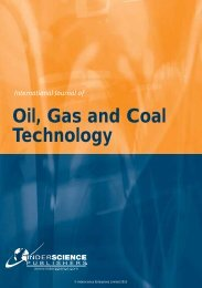 Oil, Gas and Coal Technology - Inderscience Publishers