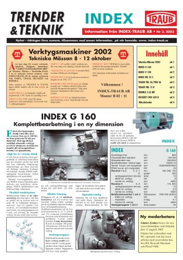 TRENDER &TEKNIK Information från INDEX-TRAUB AB • Nr 3 ...