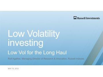 Low Volatility investing - IndexUniverse.com