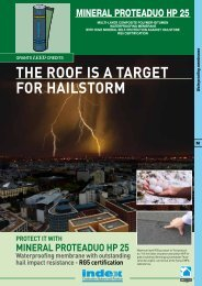 THE ROOF IS A TARGET FOR HAILSTORM - Index S.p.A.