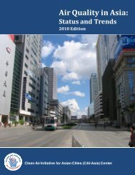 Air Quality in Asia: Status and Trends - Clean Air Initiative