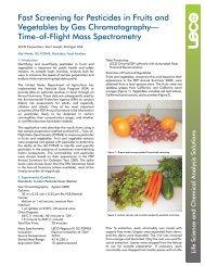 Pesticides in Fruit & Vegetables