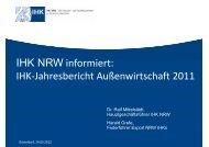 IHK-Jahresbericht Außenwirtschaft 2011 - IHKs in NRW