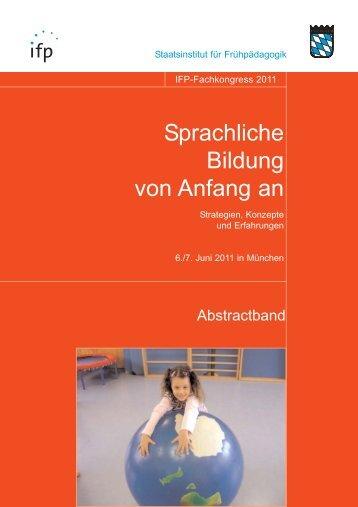 Titel Abstractband_2011.qxd - IFP - Bayern