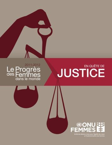 JUSTICE - Progress of the World's Women
