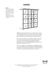 HOPEN wardrobe system solves all your wardrobe needs ... - Ikea