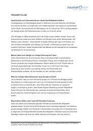 PRESSEMITTEILUNG haushalt.aktiv und Lebensministerium starten ...