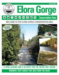 The Elora Gorge Conservation Area - Grand River Conservation ...