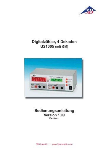 Digitalzähler, 4 Dekaden Bedienungsanleitung - 3B Scientific
