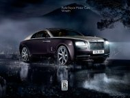 Wraith Overview - Rolls-Royce Motor Cars
