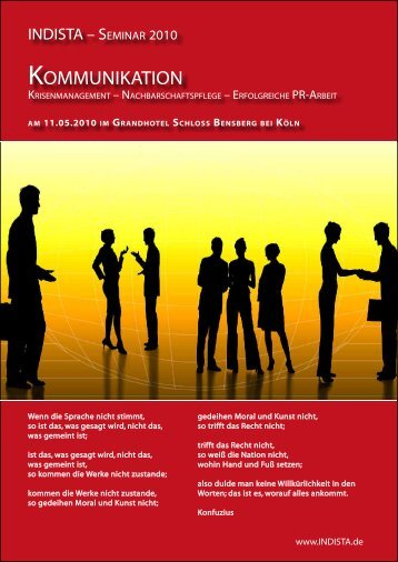 Programm INDISTA Seminar