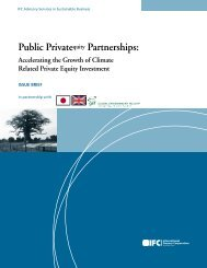 Issue Brief: Public Private Equity Partnerships - IFC