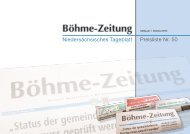 Preisliste Nr. 50 Niedersächsisches Tageblatt - Böhme-Zeitung