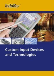 Custom Input Devices and Technologies - InduKey