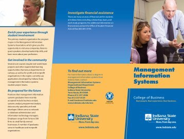 Management Information Systems - Indiana State University