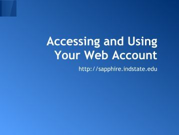 Step-by-step guide on how to access and use this web space
