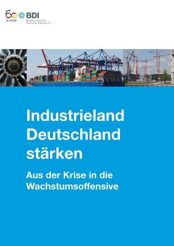 Broschüre Industrieland Deutschland stärken - BDI