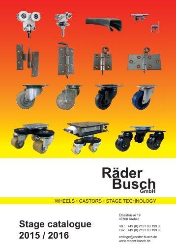 Räder Busch Bühnenkatalog Englisch