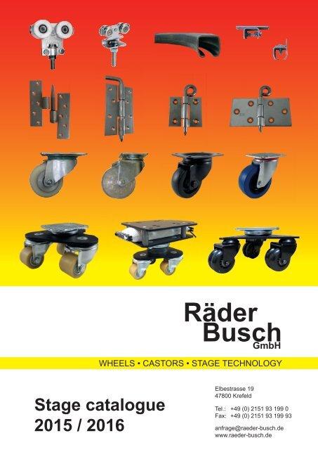 1 Satz Blue Wheels Lenkrollen 200mm 400kg//Rolle NEU Lenk//FS
