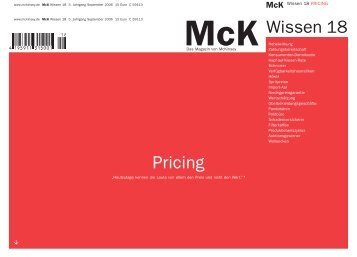 Mck Wissen | Pricing - Brand Eins