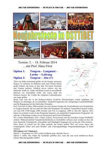 Detailprogramm für die Reise: Neujahrsfeste in ... - Joe Far Tours