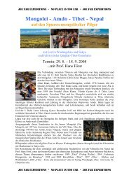 Mongolei - Amdo - Tibet - Nepal - Joe Far Tours