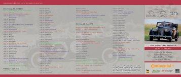 Flyer zur DONAU CLASSIC 2013 zum Download