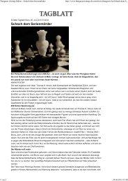 Thurgauer Zeitung Online - Schach dem Serienmörder - Edition8