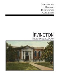 Irvington Historic Area Preservation Plan - City of Indianapolis