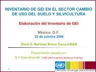 Uso del suelo, cambio de uso de suelo y silvicultura - Instituto ...
