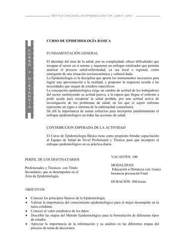 curso de epidemiología básica - Instituto Nacional de Epidemiología