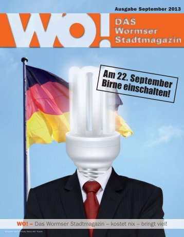 Am 22. September Birne einschalten! - DAS Wormser Stadtmagazin