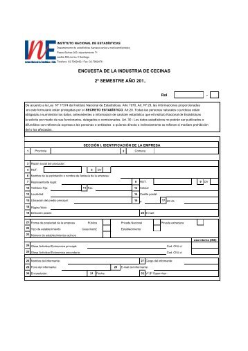 Formulario Industria de Cecinas Segundo Semestre - Instituto ...