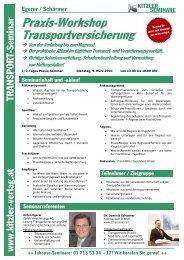 Praxis-Workshop Transportversicherung - Kitzler Verlag
