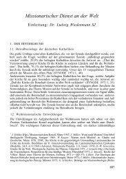 Missionarischer Dienst an der Welt - Katholisch.de