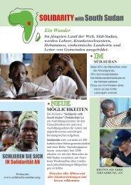 Solidarity with South Sudan - Katholisch.de