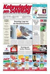 Ausgabe vom 08.12.2013 - Kehrwieder am Sonntag