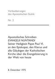 Apostolisches Schreiben EVANGELII NUNTIANDI ... - Katholisch.de