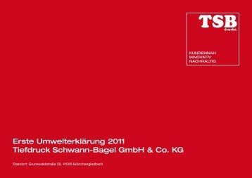 Erste Umwelterklärung 2011 Tiefdruck Schwann ... - TSB Gruppe