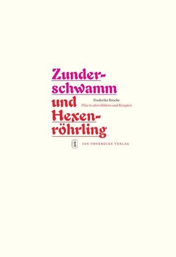 Zunderschwamm und Hexenröhrling - Jan Thorbecke Verlag