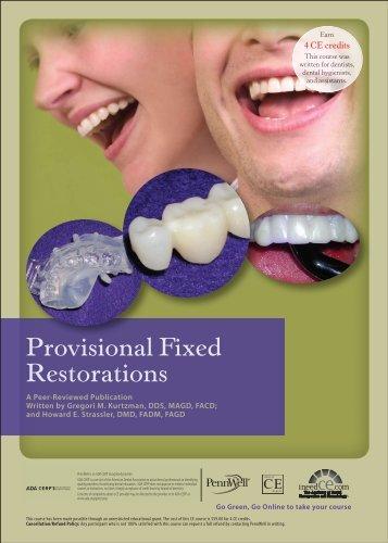 Provisional Fixed Restorations - IneedCE.com