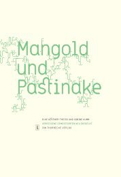 Leseprobe - Mangold und Pastinake - Jan Thorbecke Verlag