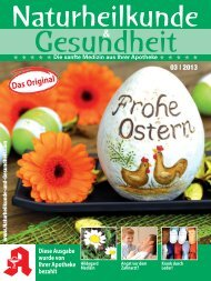 Die sanfte Medizin aus Ihrer Apotheke - S&D-Verlag GmbH