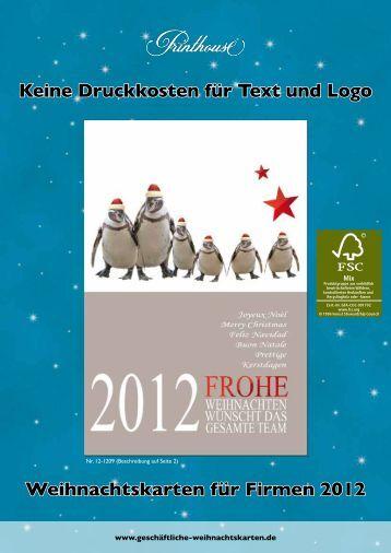 Weihnachtsprospekt 2012 - Printhouse