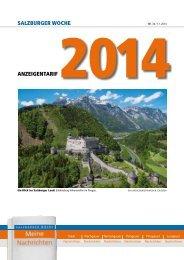 Anzeigen-Tarif 2014 zum download - Salzburger Woche