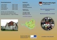 Regionalbudget - Landkreis Prignitz