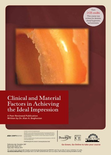 Clinical and Material Factors in Achieving the Ideal ... - IneedCE.com