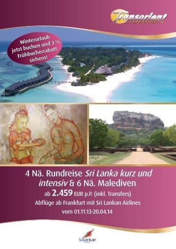 4 Nä. Rundreise Sri Lanka kurz und - Transorient