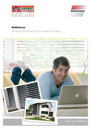 Raffstoren Perfekter Sonnenschutz in modernem ... - Storen Gerber AG