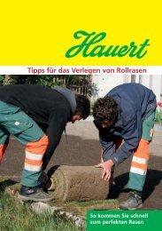Tipps für das Verlegen von Rollrasen - Hauert.com